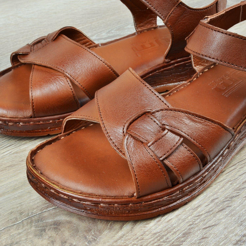 Kahve Kadın Deri Sandalet