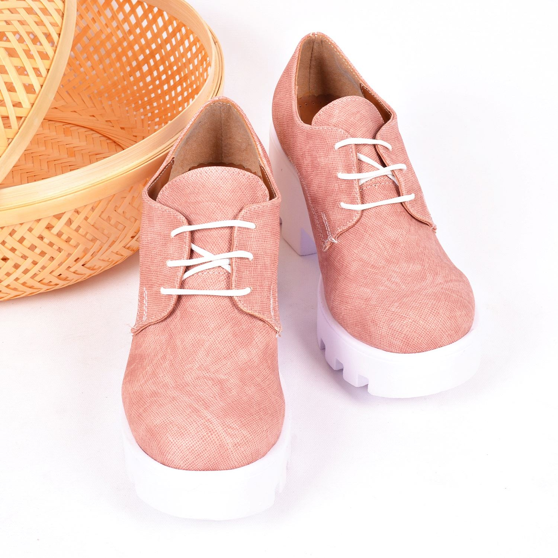 Pudra Kalın Taban Kadın Sneaker 642345