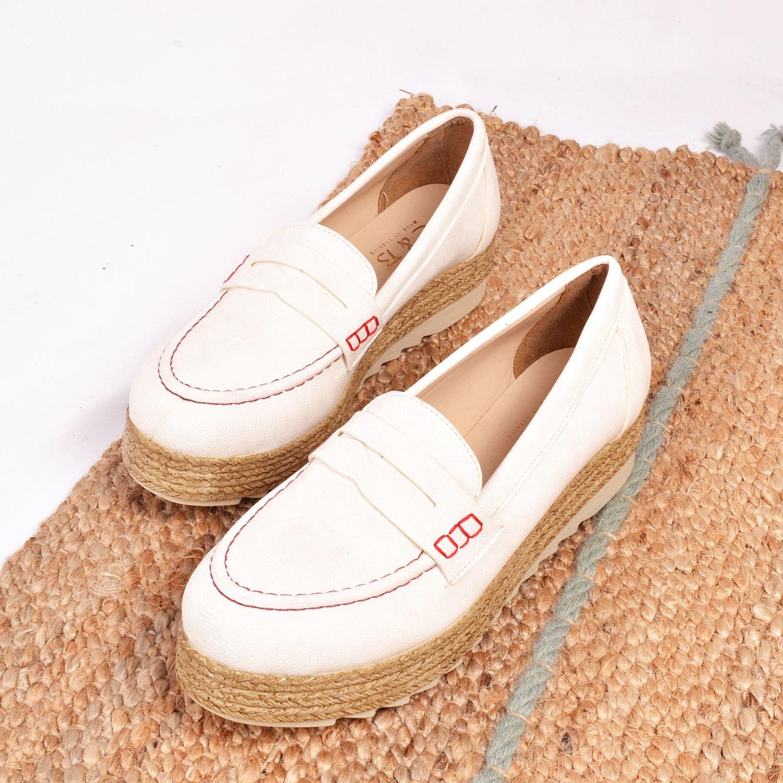 Beyaz Kalın Taban Kadın Sneaker 161