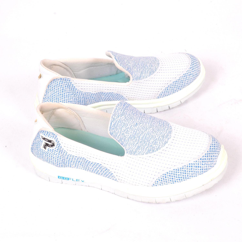 Beyaz Mavi Kadın Spor Ayakkabı