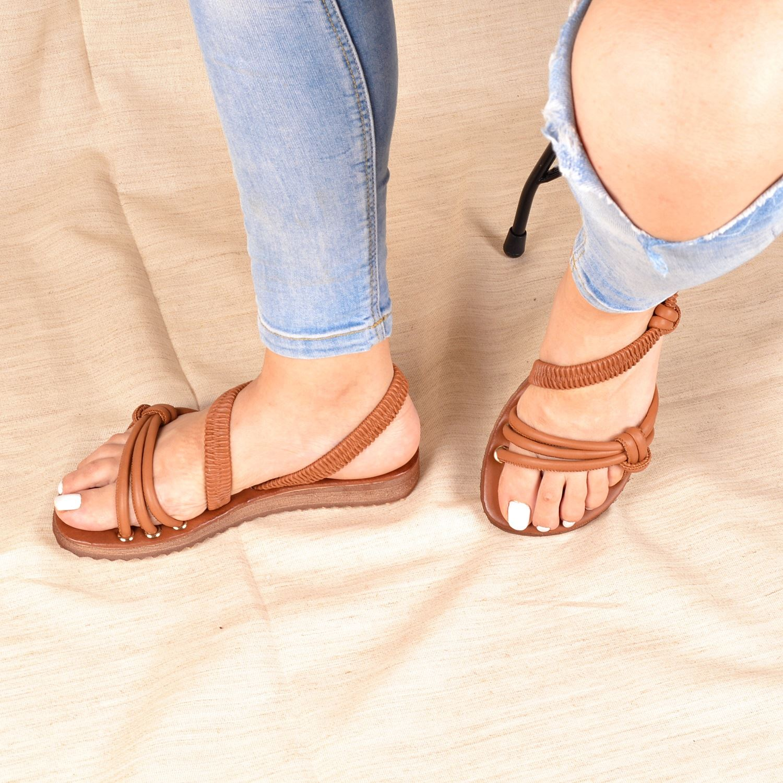Taba Lastikli Kadın Sandalet