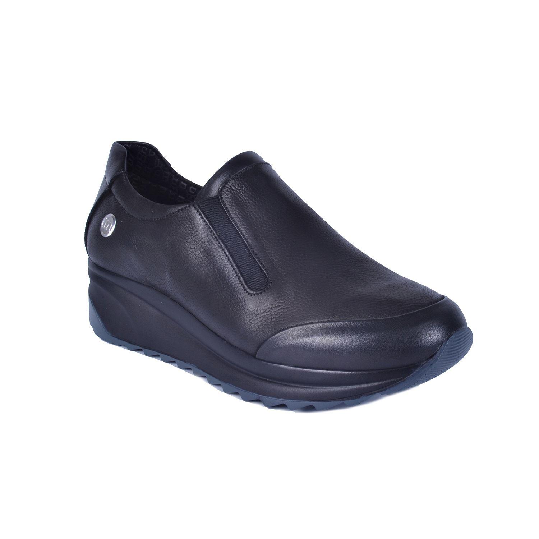 Siyah Kadın Dolgu Topuk Deri Ayakkabı 405