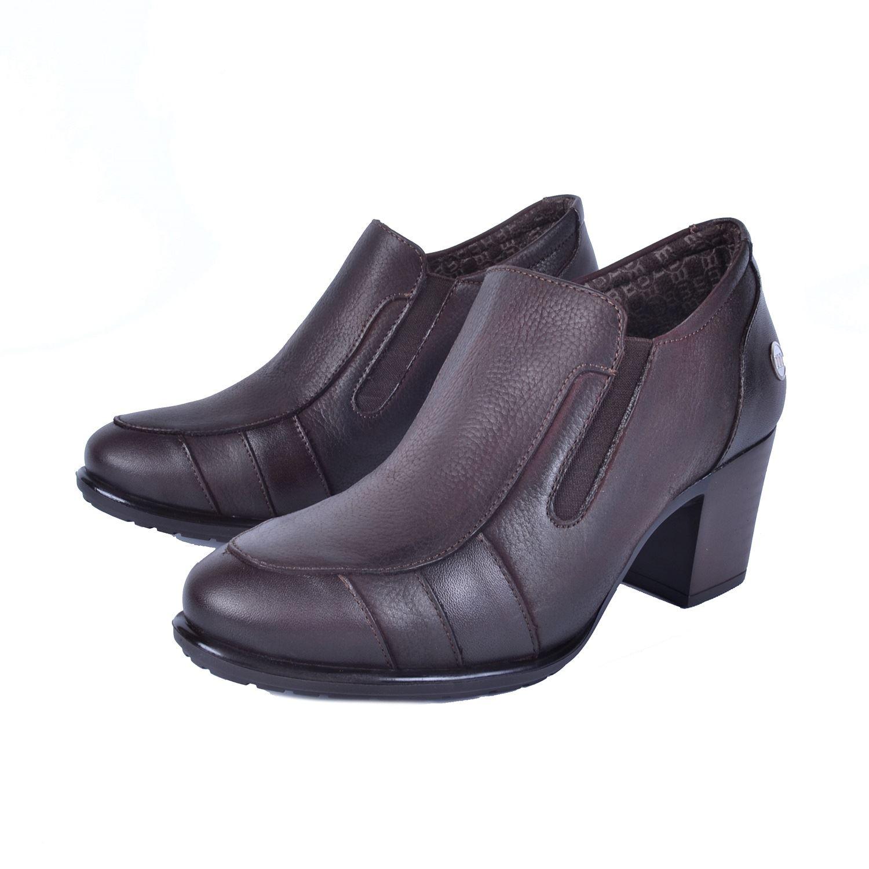 Kahve Kadın Topuklu Deri Ayakkabı 750