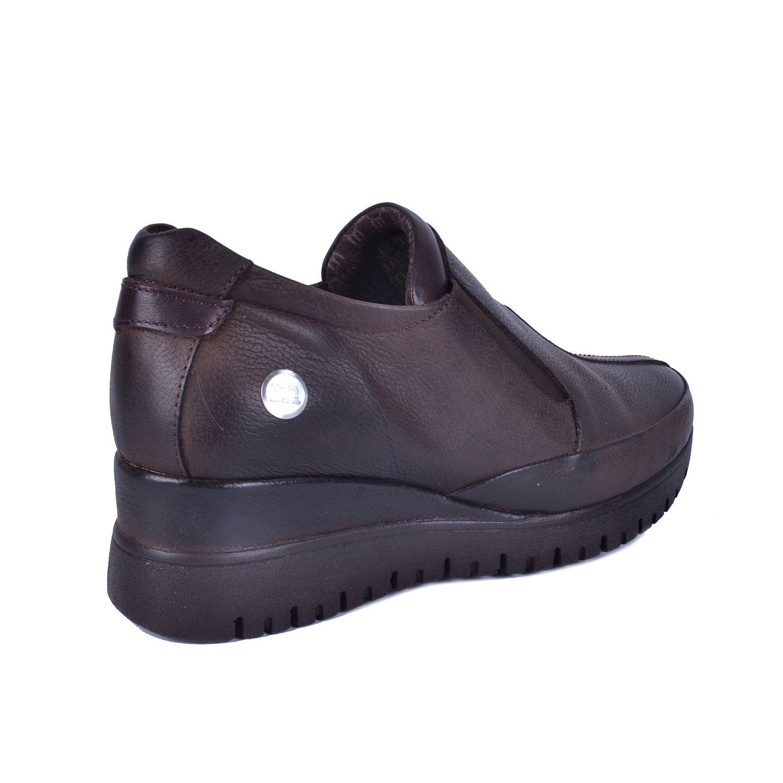 Kahve Kadın Dolgu Topuk Deri Ayakkabı 355