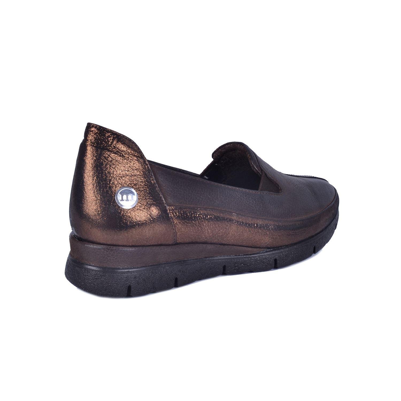 Kahve Kadın Alçak Topuk Deri Ayakkabı 735