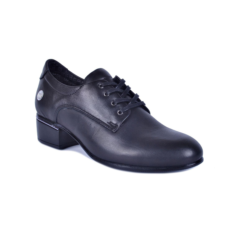 Siyah Kadın Topuklu Deri Ayakkabı 415
