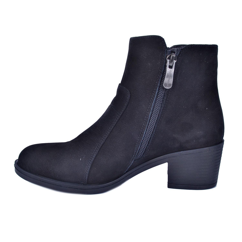 Mammamia 1015 Siyah Kadın Alçak Topuk Deri Bot