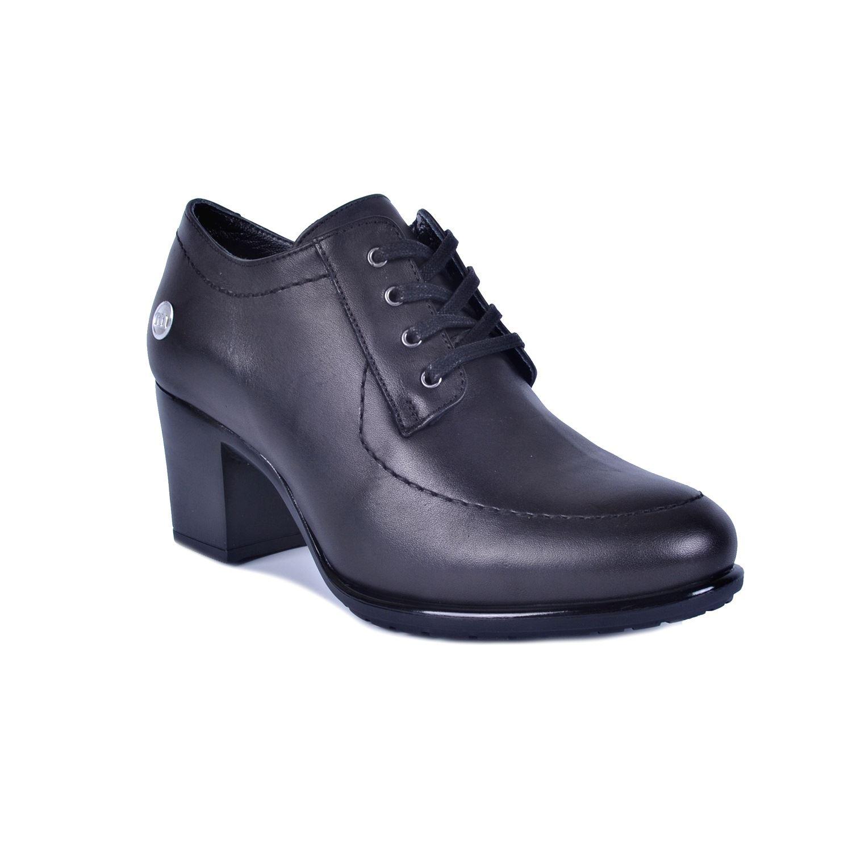 Siyah Kadın Topuklu Deri Ayakkabı 740