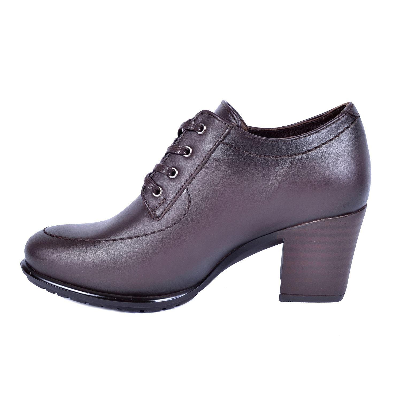 Kahve Kadın Topuklu Deri Ayakkabı 740