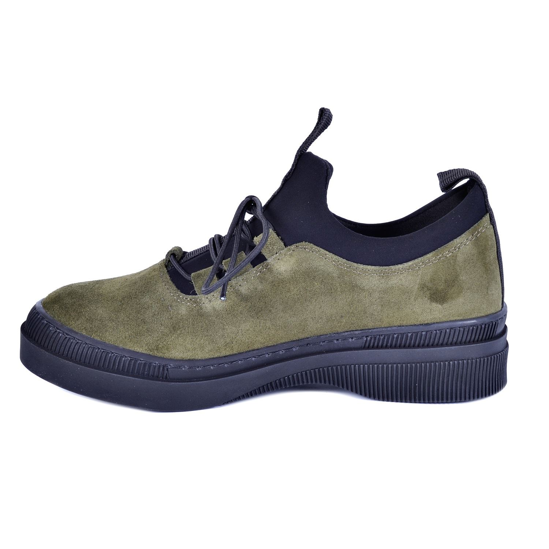 Haki Kadın Günlük Deri Ayakkabı 3175