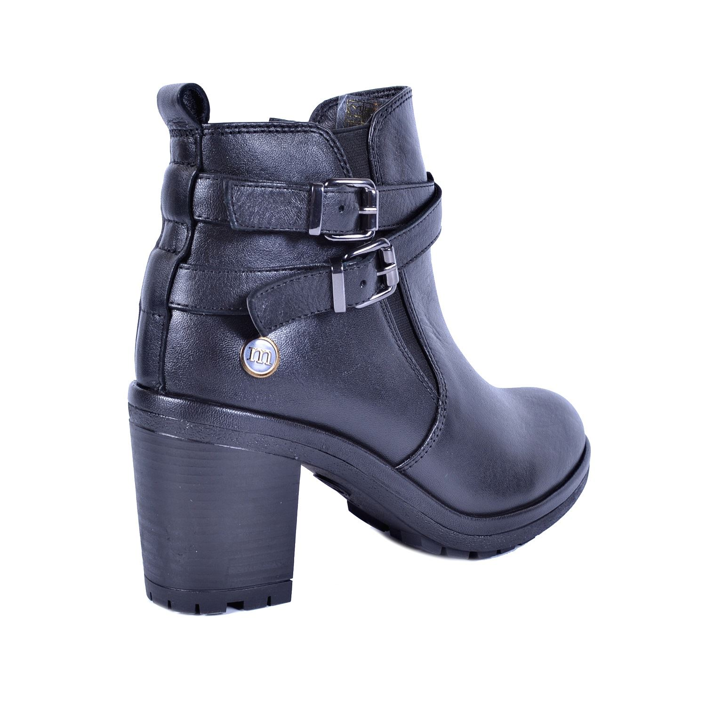 Mammamia Siyah Kadın Topuklu Deri Bot 4630