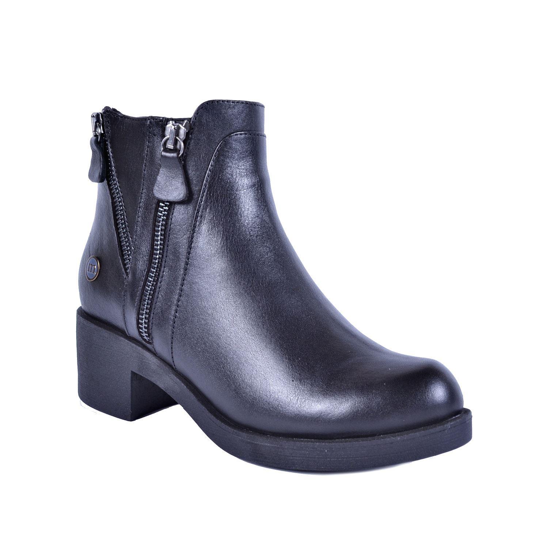 Mammamia Siyah Kadın Topuklu Deri Bot 4715