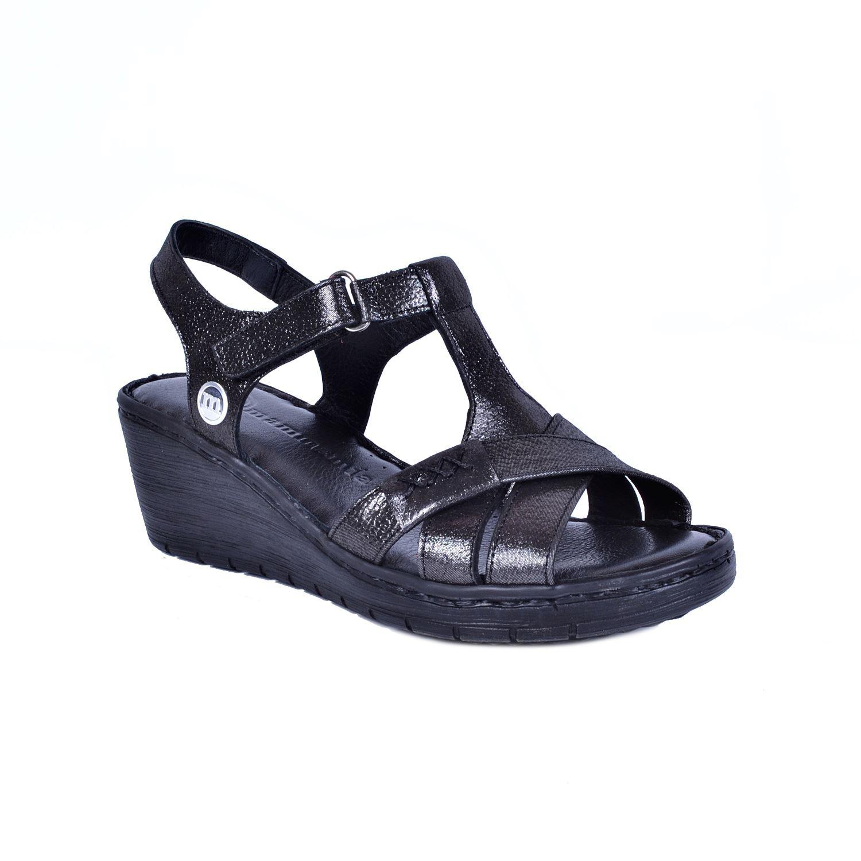 Siyah Kadın Deri Sandalet 1300