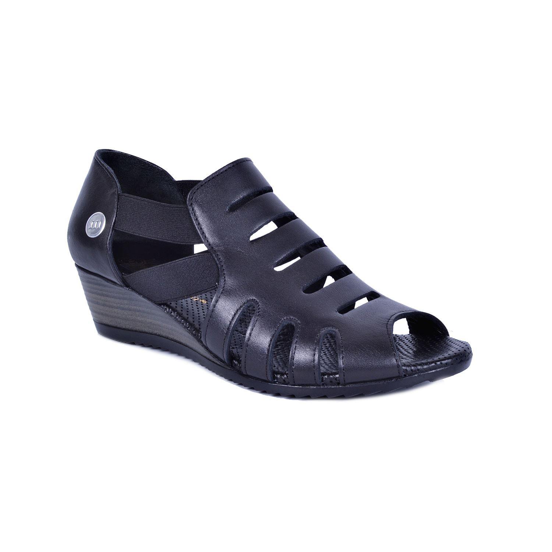 Siyah Kadın Deri Sandalet 260