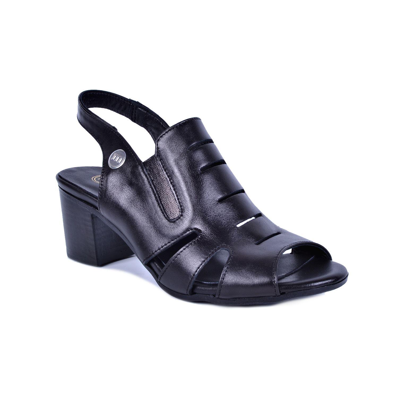 Siyah Kadın Deri Sandalet 1105