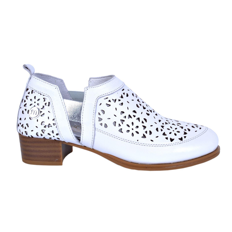 Beyaz Kadın Deri Ayakkabı 455
