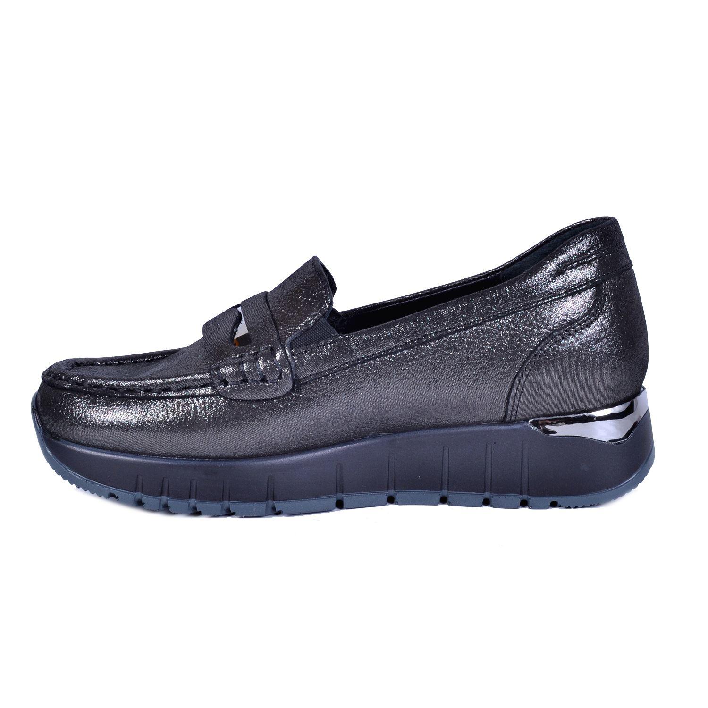Gri Kadın Deri Ayakkabı 3195