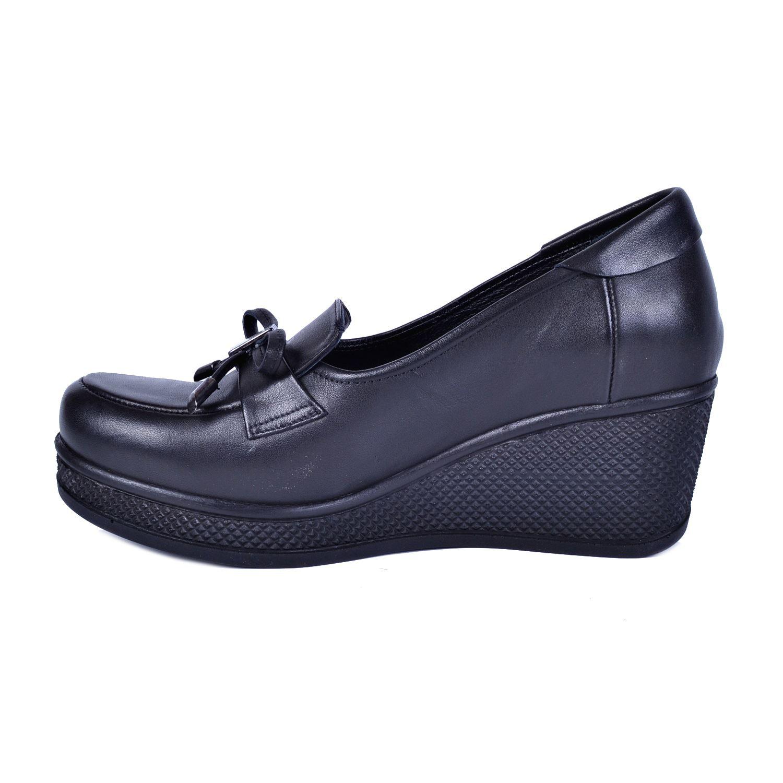 Siyah Kadın Deri Ayakkabı 3320