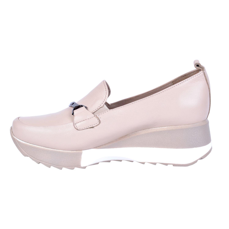 Bej Kadın Deri Ayakkabı 3215