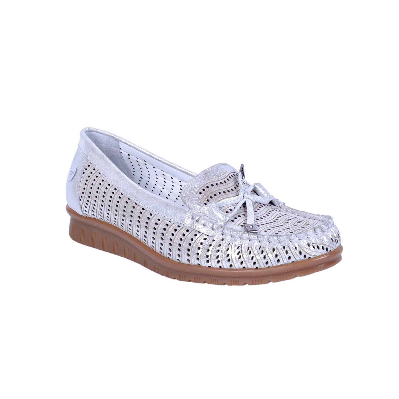 Gri Kadın Deri Ayakkabı 490