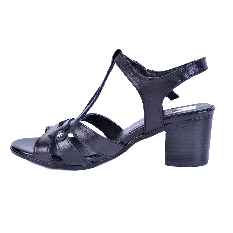 Siyah Kadın Deri Sandalet 1110