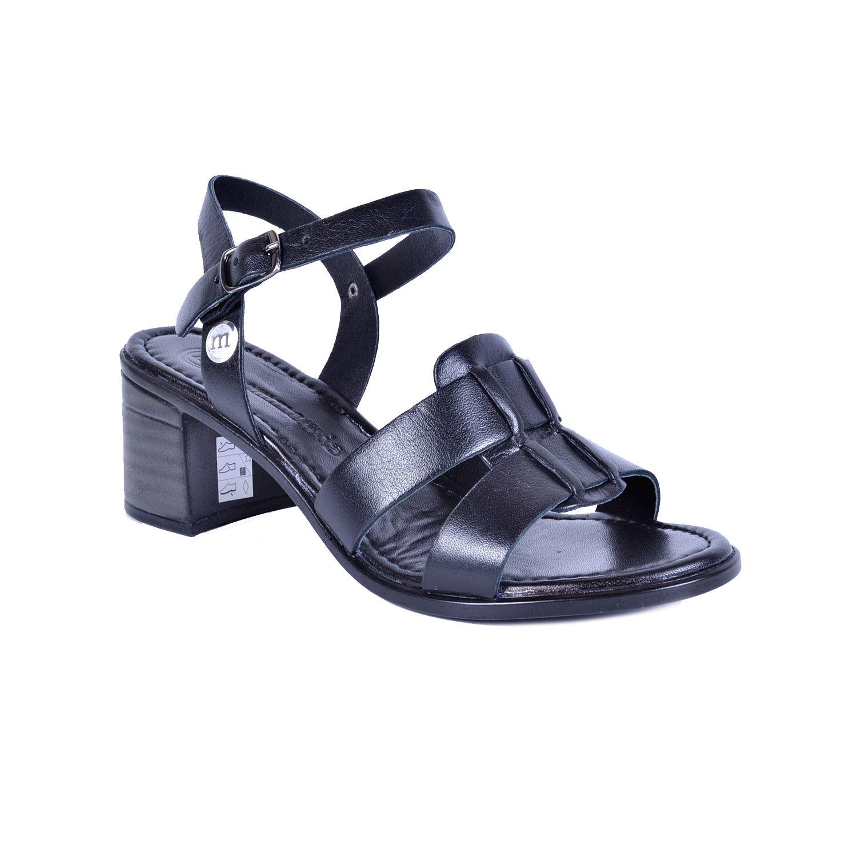 Siyah Kadın Deri Sandalet 1190