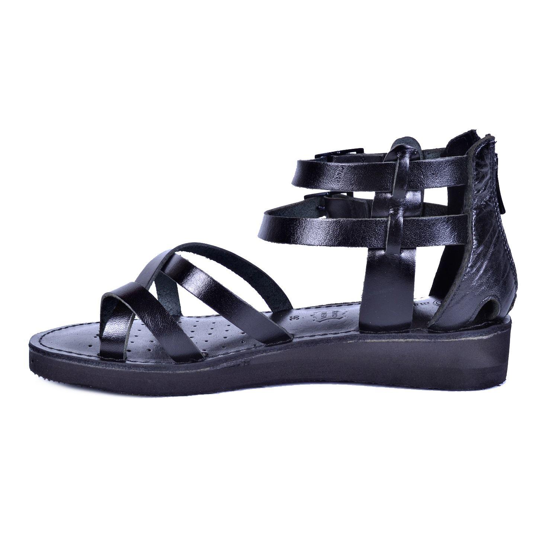 Siyah Kadın Deri Sandalet 1005