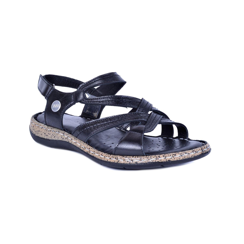 Siyah Kadın Deri Sandalet 1385