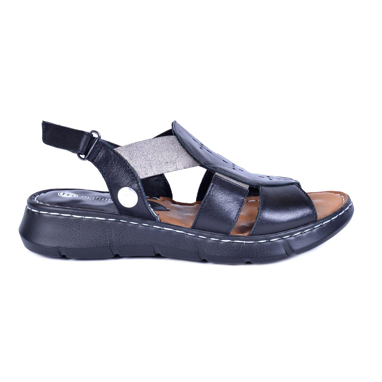 Siyah Kadın Deri Sandalet 1330