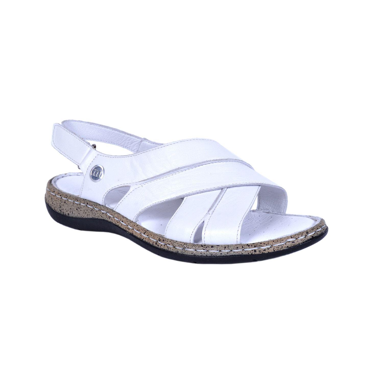 Beyaz Kadın Deri Sandalet 1370