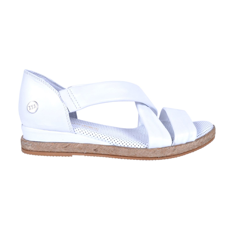 Beyaz Kadın Deri Sandalet 1115