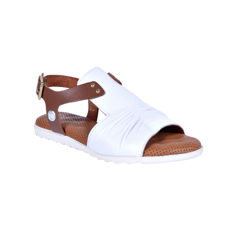 Beyaz Kadın Deri Sandalet 1210