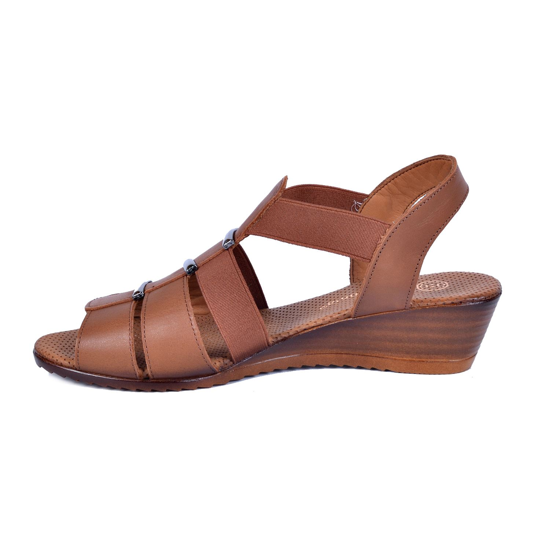 Mammamia 1045 Taba Kadın Deri Sandalet
