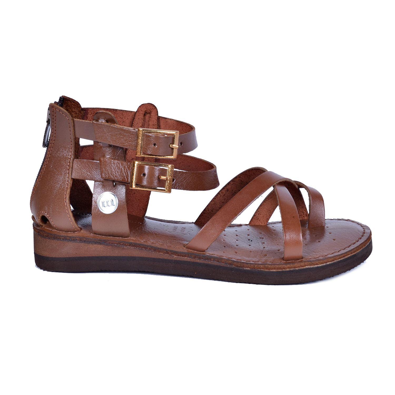 Mammamia 1005 Kahve Kadın Deri Sandalet