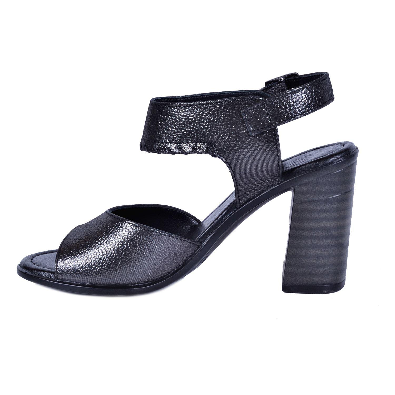Mammamia 1120 Siyah Kadın Deri Sandalet