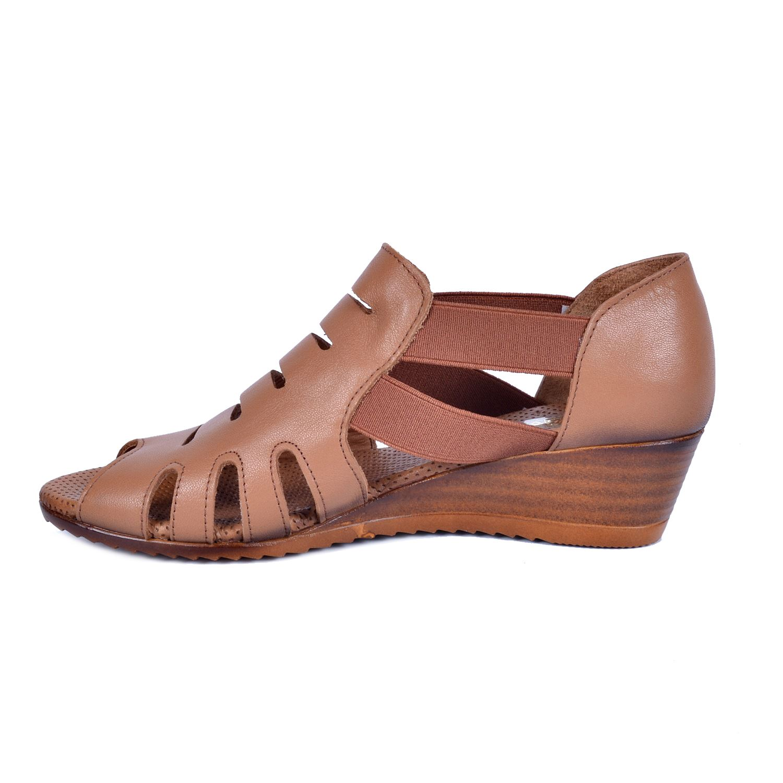 Mammamia 260 Taba Kadın Deri Sandalet