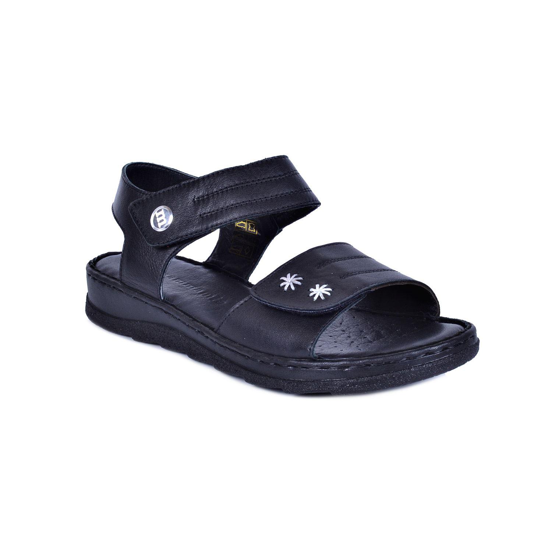 Mammamia 1150 Siyah Kadın Deri Sandalet