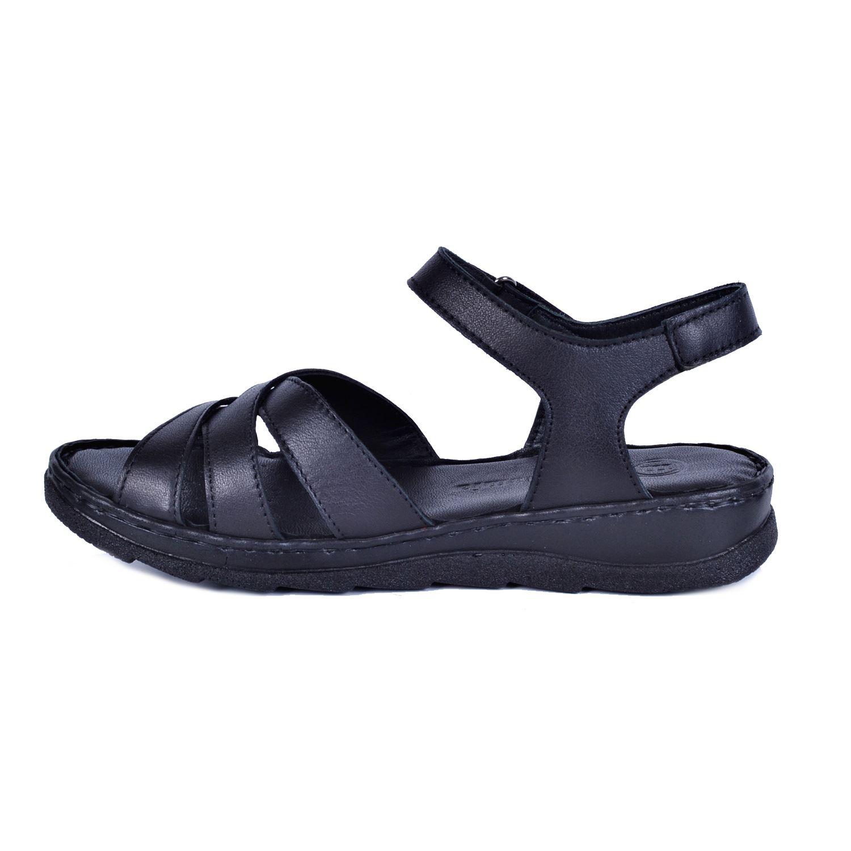 Mammamia 1160 Siyah Kadın Deri Sandalet