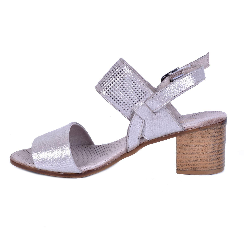 Mammamia 1050 Pudra Kadın Deri Sandalet