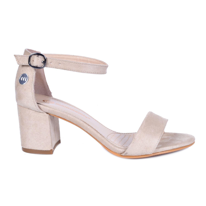 Mammamia 3440 Bej Kadın Sandalet