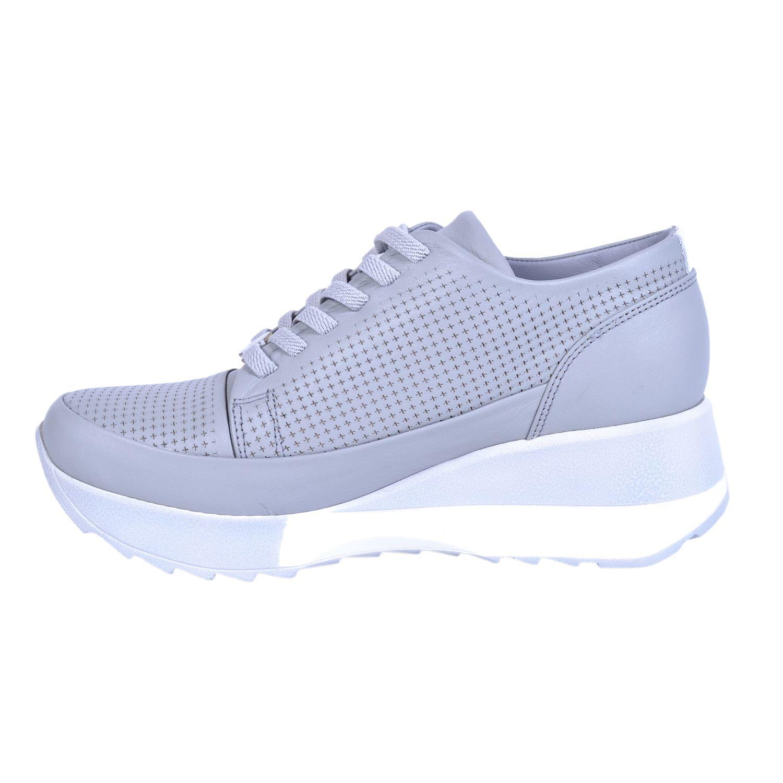 Mammamia 3640 Gri Kadın Deri Ayakkabı