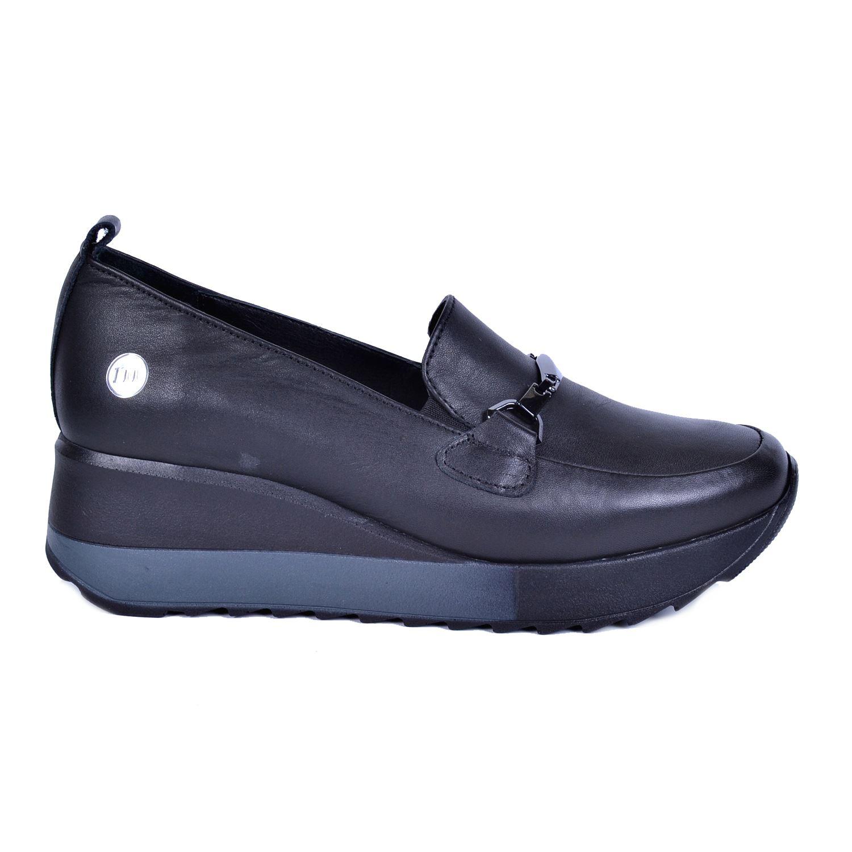 Mammamia 3215 Siyah Kadın Deri Ayakkabı