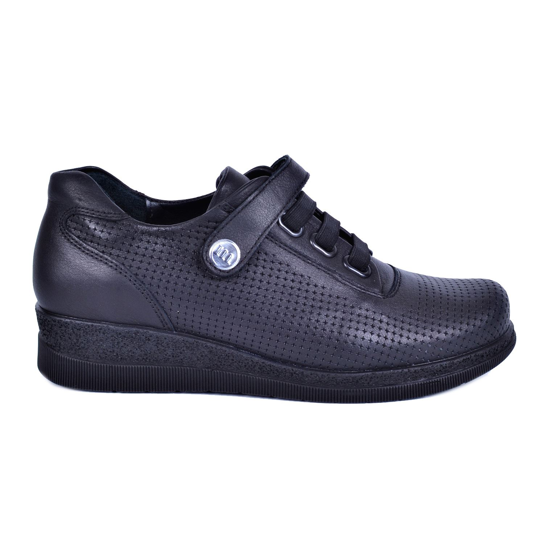 Mammamia 3075 Siyah Kadın Deri Ayakkabı