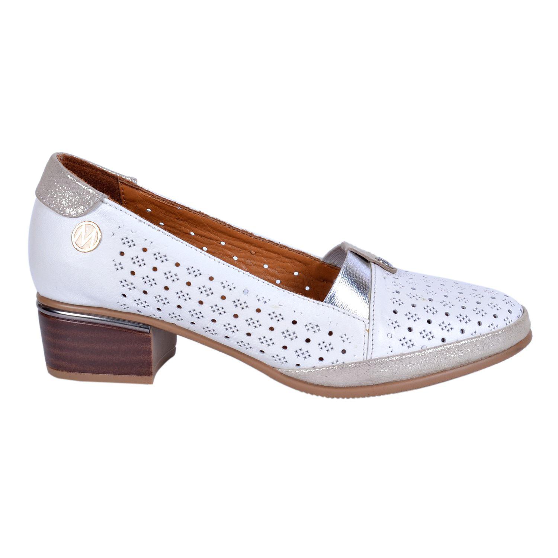 Messimod 4021 Beyaz Kadın Deri Ayakkabı