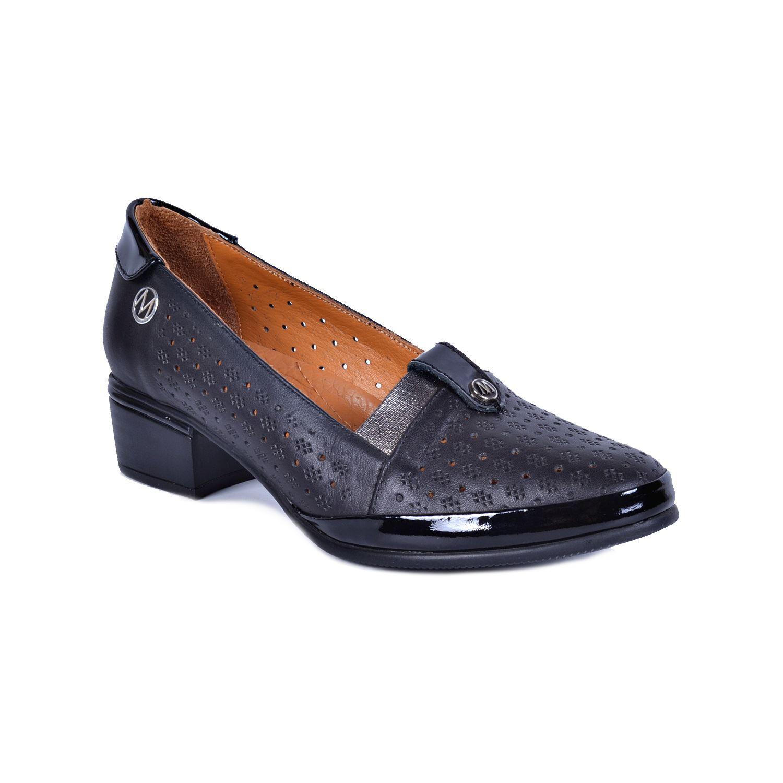 Messimod 4021 Siyah Kadın Deri Ayakkabı