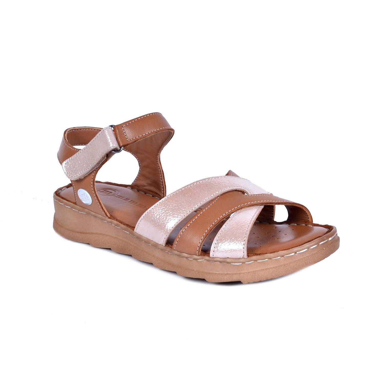 Mammamia 1160 Taba Kadın Deri Sandalet