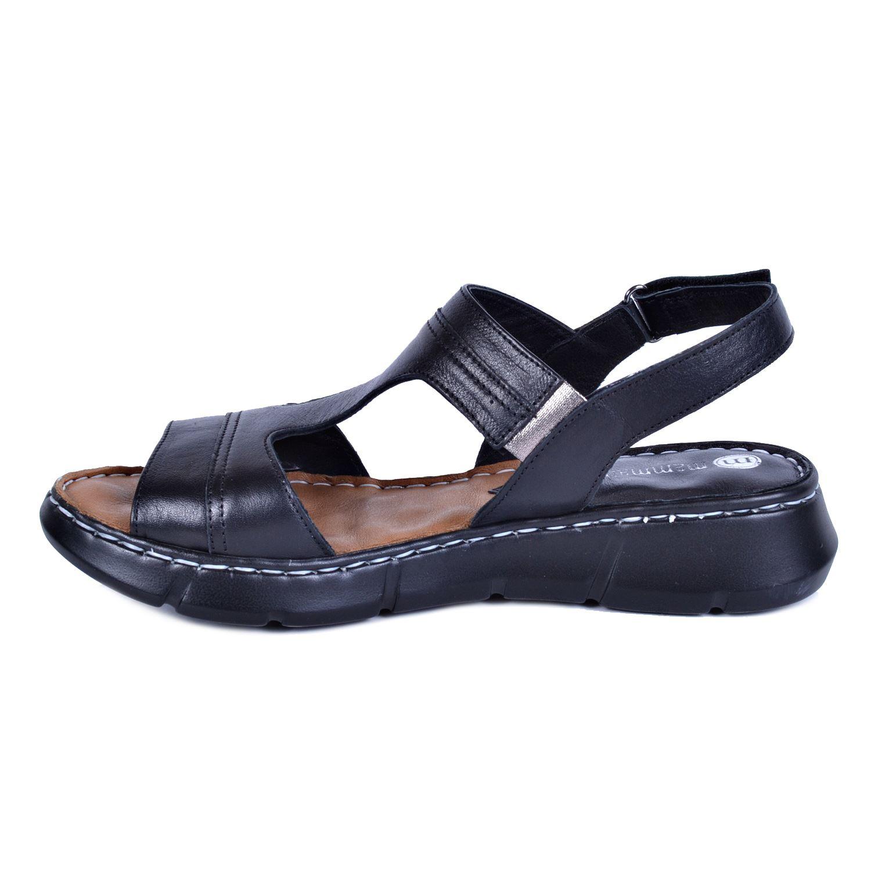 Mammamia 1325 Siyah Kadın Deri Sandalet