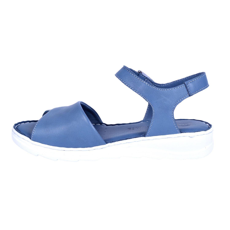 Mammamia 1155 Mavi Kadın Deri Sandalet