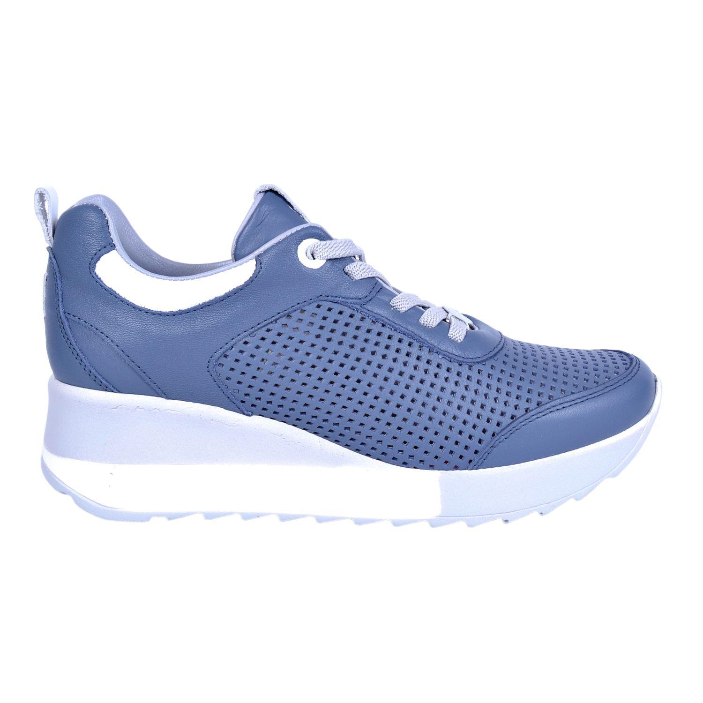 Mammamia 3265 Mavi Kadın Deri Ayakkabı