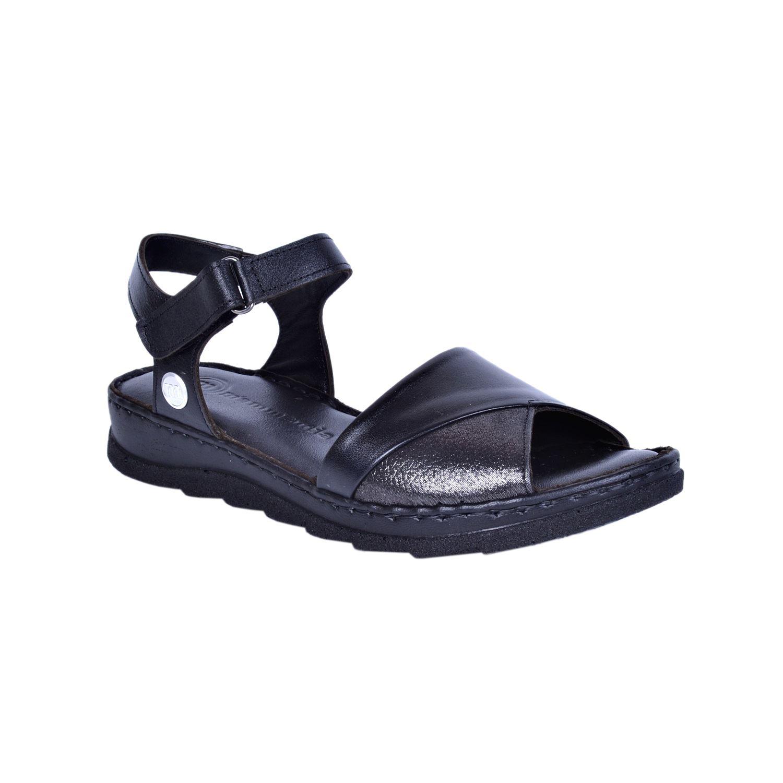 Mammamia 1155 Siyah Kadın Deri Sandalet